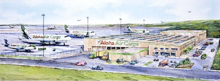 This rendering shows Aloha Air Cargo's new cargo facility at Honolulu International Airport, which is expected to be completed in the first quarter of 2014.