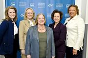 Five of eight female former SEC commissioners spoke on a panel, including from left, Kathleen Casey, Mary Schapiro, Cynthia Glassman, Annette Nazareth and Aulana Peters.