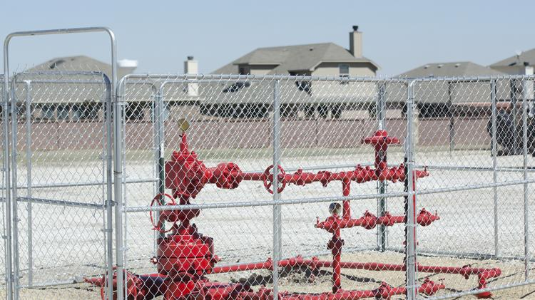 Denton has proposed a ban on fracking because some producers are operating very close to homes.