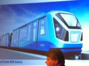 The tram design for the new south terminal people mover system, with completion by summer 2017