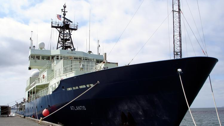 "According to financial filings, WHOI said government funding — its largest single source of revenue — fell to recent lows in 2013, both in dollar terms and as a percentage of total revenue. Above, WHOI's floating research laboratory, the ""Atlantis."""