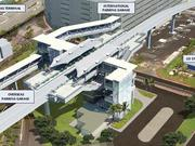 Construction on the $23 million rail station at Honolulu International Airport, seen in this rendering, will begin next year.