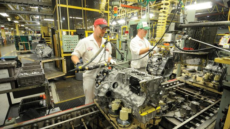 The Honda engine plant in Shelby County employs 2,600 people.