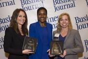2013 Diversity Award sponsor representatives from Florida Blue and CSX with Hester Clark.