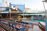 Royal Caribbean's renovated Grandeur of the Seas includes an outdoor movie screen and deck nine and 10.