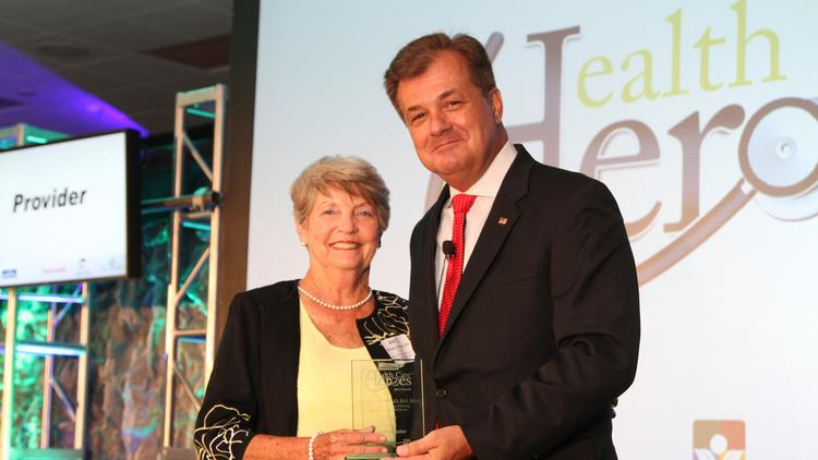 Mount Carmel College of Nursing's Ann Schiele was the honoree in the provider category at Columbus Business First's Health Care Heroes Awards Thursday.