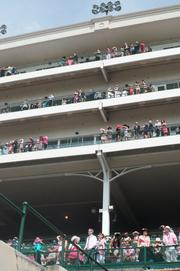 As of late morning, the Churchill Downs balconies had not filled up yet.