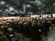 About 500 people attended the ceremony.