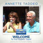 Crist names picks <strong>Taddeo</strong> as his running mate