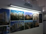 Ziegler Cooper displayed some of its most notable renderings projects inside the space.