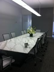 One of several conference rooms inside Ziegler Cooper's new office.