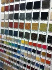 Some of Zielger Cooper's many color fabric samples.