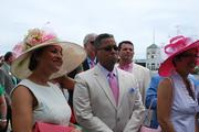 Craig Richard and wife Verna listened to a presentation by John Asher, vice president of racing communications for Churchill Downs.