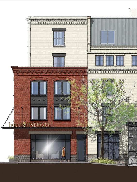 A rendering of the Hotel Indigo, coming to the Old Town Alexandria waterfront.