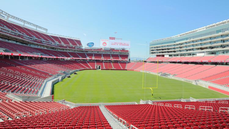 It may not look like a hockey rink now, but the San Francisco 49ers' Levi's Stadium will play host to an National Hockey League showdown between the San Jose Sharks and the Los Angeles Kings this February.