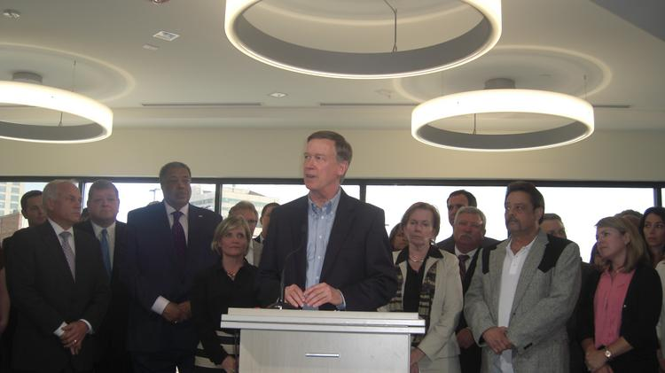 Gov. John Hickenlooper joined with Coloradans for Responsible Reform to launch a fight against ballot initiatives backed by U.S. Rep. Jared Polis (D-Boulder)