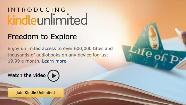 Amazon's Kindle Unlimited plan costs $9.99 per month.