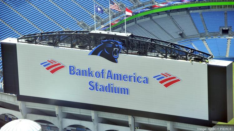 Among the biggest challenges for the vendors working on upgrades at Bank of America Stadium: incorporating the super-sized video boards with the 18-year-old stadium's original design.