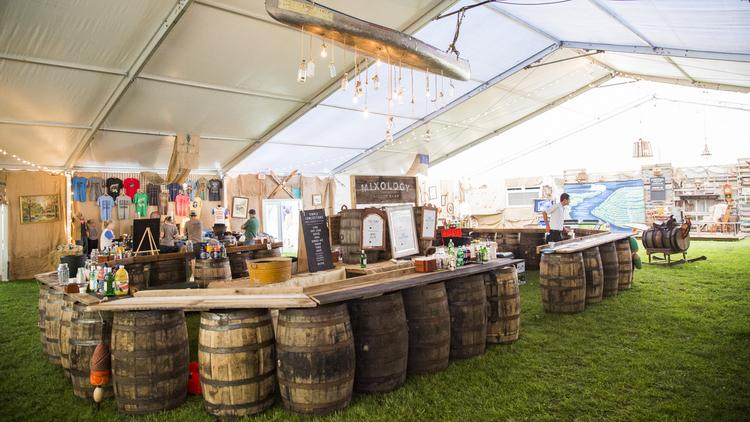 In addition to a bar, the Bourbon Lodge at Forecastle offers air-conditioning, master distillers sharing their knowledge and special appearances from some of the bands playing at the event.