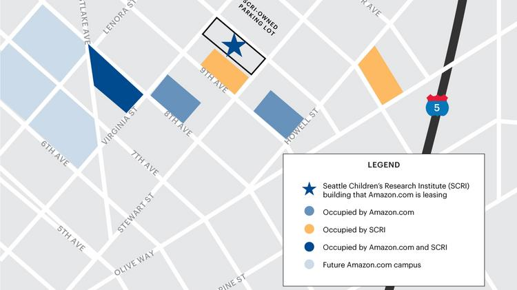 Seattle Children's Research Institute is leasing to Amazon.com an old building at 1915 Terry Ave.