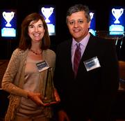 Award winner Mindy Doster and Richard Willis.