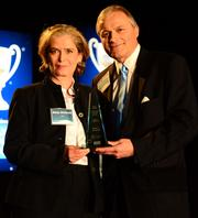 Lifetime Achievement Award winner Betsy Griswold with Aton Mertens.