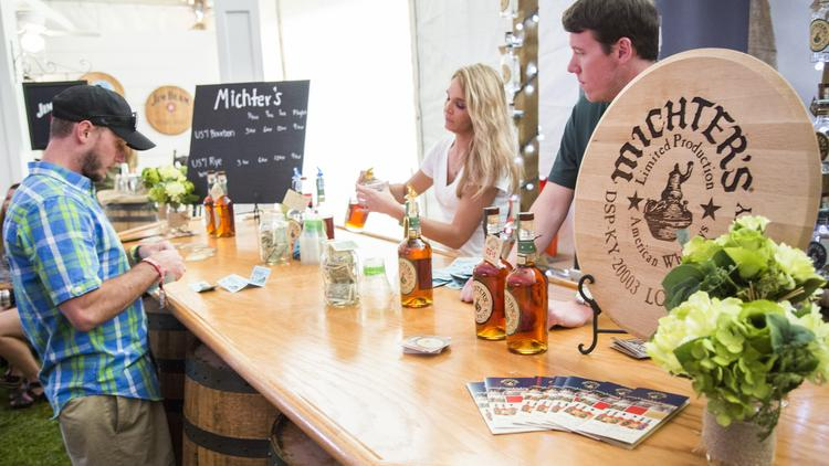 Michter's Distillery has a counter in the Bourbon Lodge.