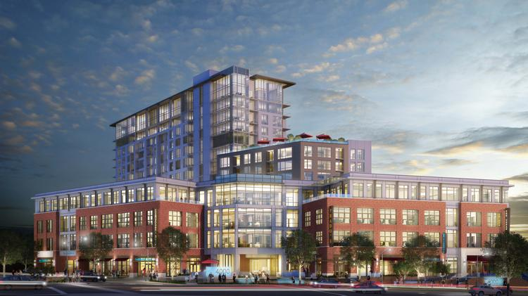 Southern Land Co. is under construction on this 18-story, $125 million mixed-use development at 4000 Hillsboro Pike.