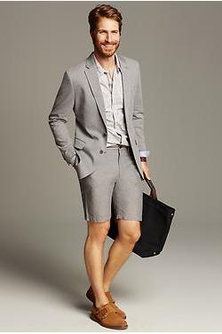 "Who can wear a shorts suit?  Banana Republic's ""Startup Guy"" that's who"