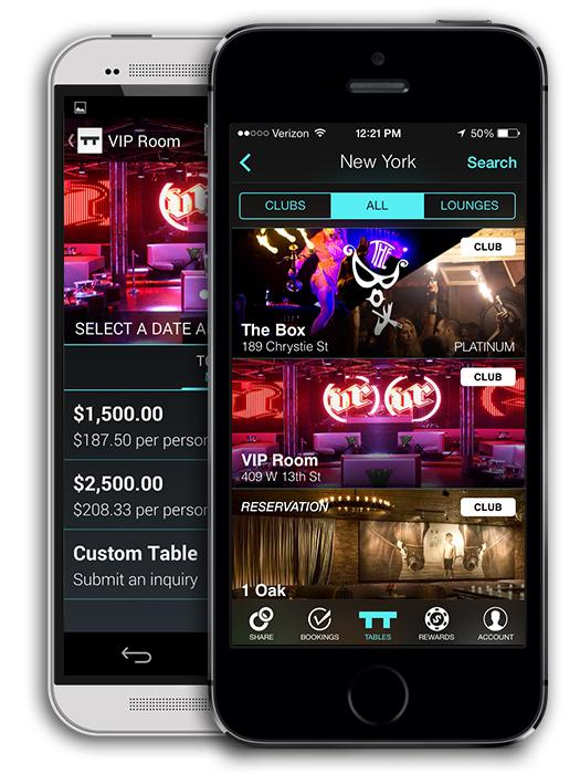 Boston-based Tablelist allows users to book tables at nightclubs and lounges in Boston and other cities.