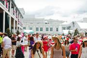 The Kentucky Oaks attendance this year was 113,820, the second largest crowd for Oaks Day.
