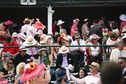 Patrons are encouraged to wear pink for the Kentucky Oaks, in support of breast cancer awareness.