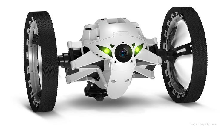 Via its spring-loaded arm, an operator can launch the Parrot SA Jumping Sumo over two feet into the air, in addition to record or wirelessly stream the drone's video footage live.