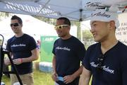 From left, Andy Riffle, lead stores agent for Alaska Airlines; Chris Rabon, revenue analyst and Daniel Chun, regional manager sales and community marketing at the Alaska Airlines sponsor booth at the AIDS Walk 2013 at Kapiolani Park. This is the second year that Alaska Airlines has sponsored the AIDS Walk.
