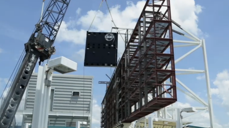 Go behind the scenes at the making of the Jacksonville Jaguars scoreboards.