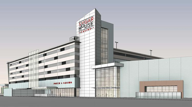 The new west entrance view of the $164-million SugarHouse Casino expansion.