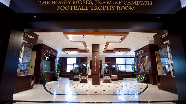 The Mike Campbell-Bobby Moses, Jr., Football Trophy Room is the perfect venue that showcases the history, pride and tradition of the UT football program. Click the image to see a slideshow of some of the venues that made our list of Austin's biggest meeting venues.
