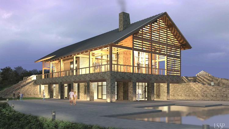 The Wendell Falls clubhouse and pool is ready for its initial residents.
