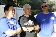 From left,  Bank of Hawaii Chairman, President and CEO Peter Ho and board members Martin Stein and Mark Burak at Bank of Hawaii's 7th Annual Community Walk at the Honolulu Zoo.
