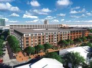 These are the initial renderings of Zom Holding's Banner Hill apartment complex presented to the Urban Design and Architecture Review Panel on July 17. The project is proposed for the site of the University of Maryland Specialty Hospital at 601 S. Charles St.