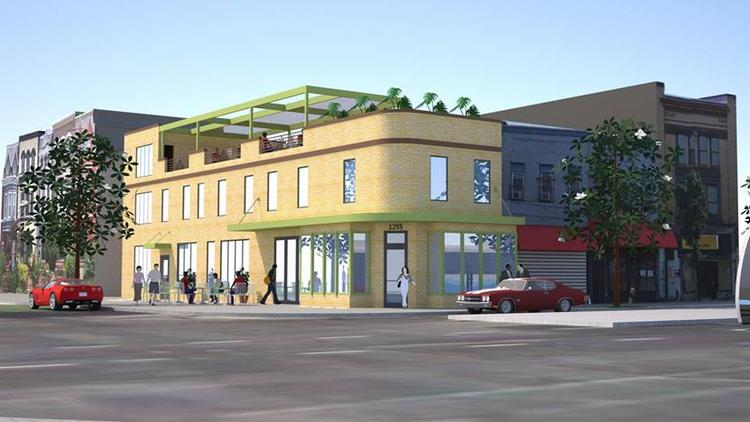 A rendering of the Spot on H, a restaurant and bar from Chef Troy Williams that will open early next year at the corner of 13th and H streets NE.