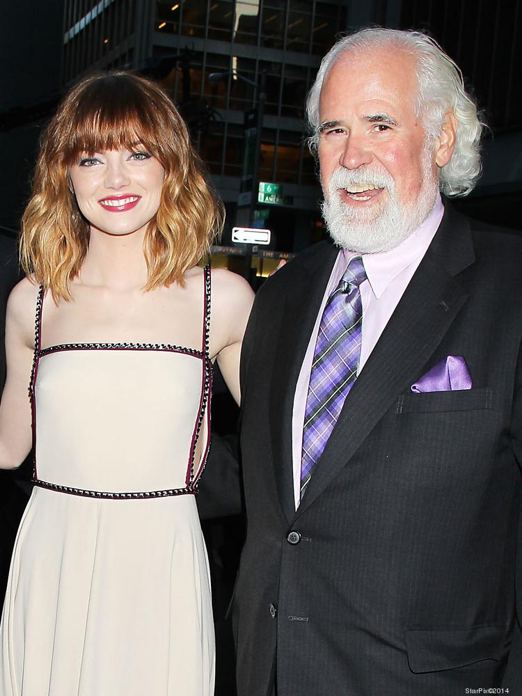 """Jeff Blake (right), pictured here with """"The Amazing Spider-Man's"""" Emma Stone, oversaw marketing and distribution of all five Spidey movies for Sony."""