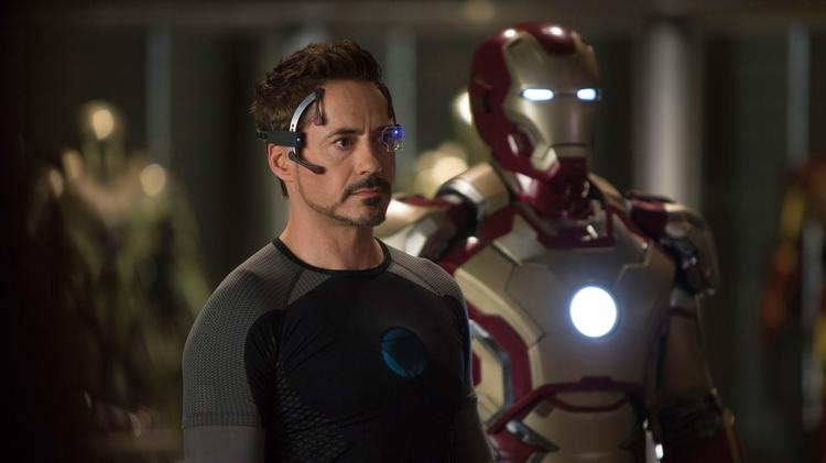 "Robert Downey Jr. stars as Tony Stark in ""Iron Man 3"" in this handout photo."