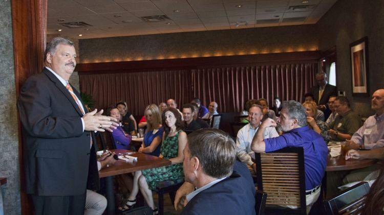 Former Sacramento County Sheriff John McGinness, now of KFBK, was the guest speaker at the Sacramento Metro Chamber's power lunch at Seasons 52.
