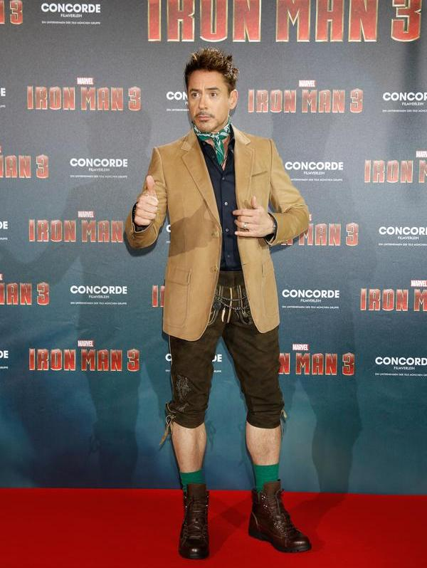 Robert Downey Jr. topped Forbes' list of top-earning actors for the second time in a row with $75 million—the same he tallied last year.