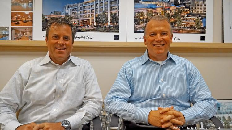 Glenn McGehee (left) and Glenn Wilson, who run the developer SouthStar in Cool Springs. McGehee is president and principal; Wilson is founder and CEO.