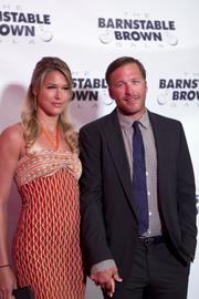 Olympic gold medal skier Bode Miller posed with his wife, Morgan Beck, on the red carpet.