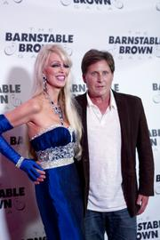 """Emilio Estevez, right, famous for roles in movies such as """"The Breakfast Club"""" and """"The Mighty Ducks,"""" posed on the red carpet with gala co-hostess Patricia Barnstable Brown. Estevez said he discovered Kentucky Bourbon Barrel Ale late last year and that it was """"the best beer I've had in my life."""""""