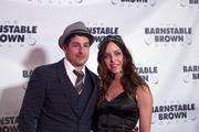 """Actor Jason Biggs, of the """"American Pie"""" film series, arrived with his date at the 25th Anniversary Barnstable Brown Gala."""