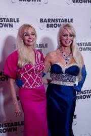Twin sisters and co-hosts of the Barnstable Brown Gala, Priscilla Barnstable, left, and Patricia Barnstable Brown, walked the red carpet.